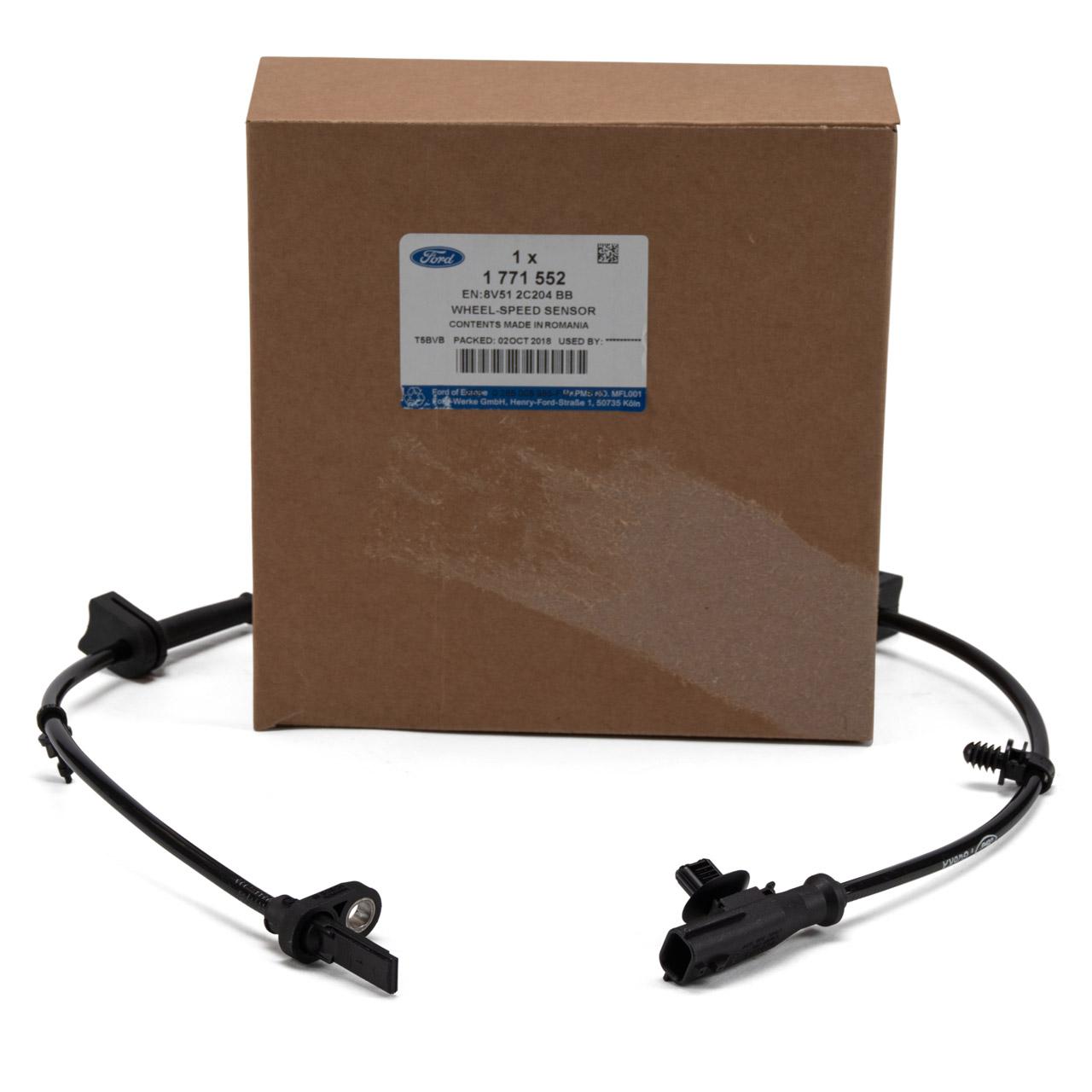 ORIGINAL Ford ABS Sensor Raddrehzahlsensor B-MAX FIESTA VI MK6 vorne 1771552