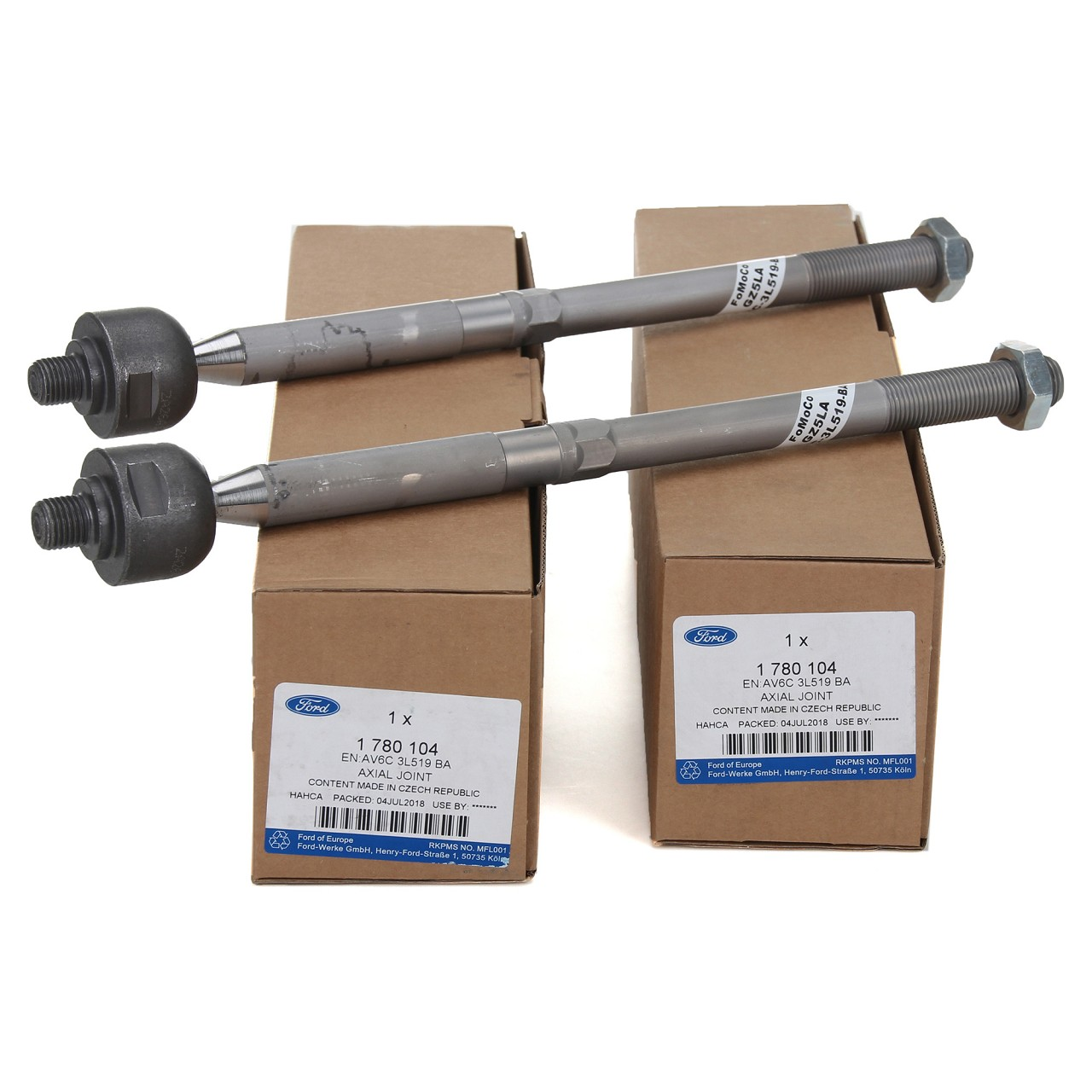 2x ORIGINAL Ford Spurstange Axialgelenk C-MAX KUGA 1 & 2 FOCUS 3 vorne 1780104