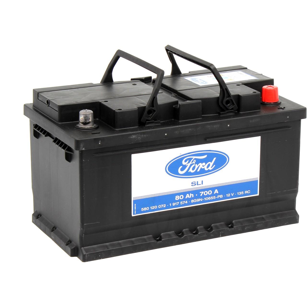 ORIGINAL Ford Autobatterie Batterie Starterbatterie 12V 80Ah 700A 1917574