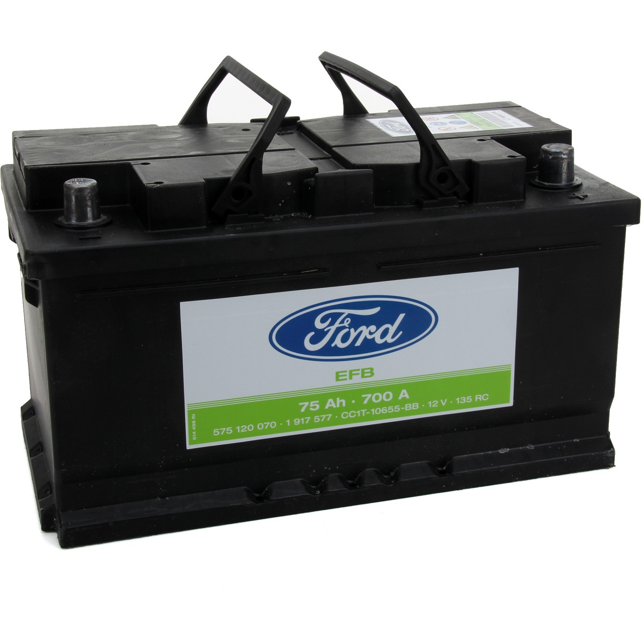 ORIGINAL Ford Autobatterie Batterie Starterbatterie 12V 75Ah 700A 1917577