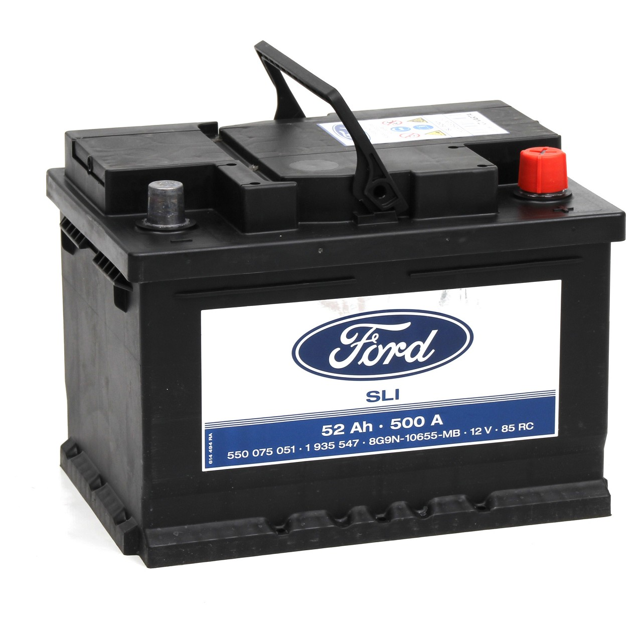 ORIGINAL Ford Autobatterie Batterie Starterbatterie 12V 52Ah 500A 1935547