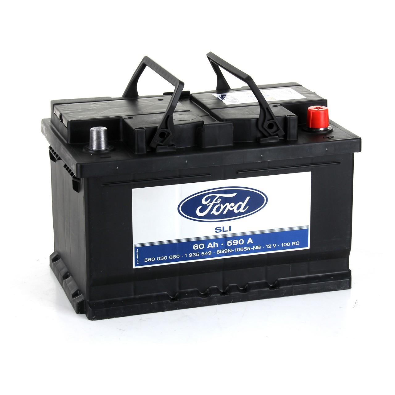 ORIGINAL Ford Autobatterie Batterie Starterbatterie 12V 60Ah 590A 1935549