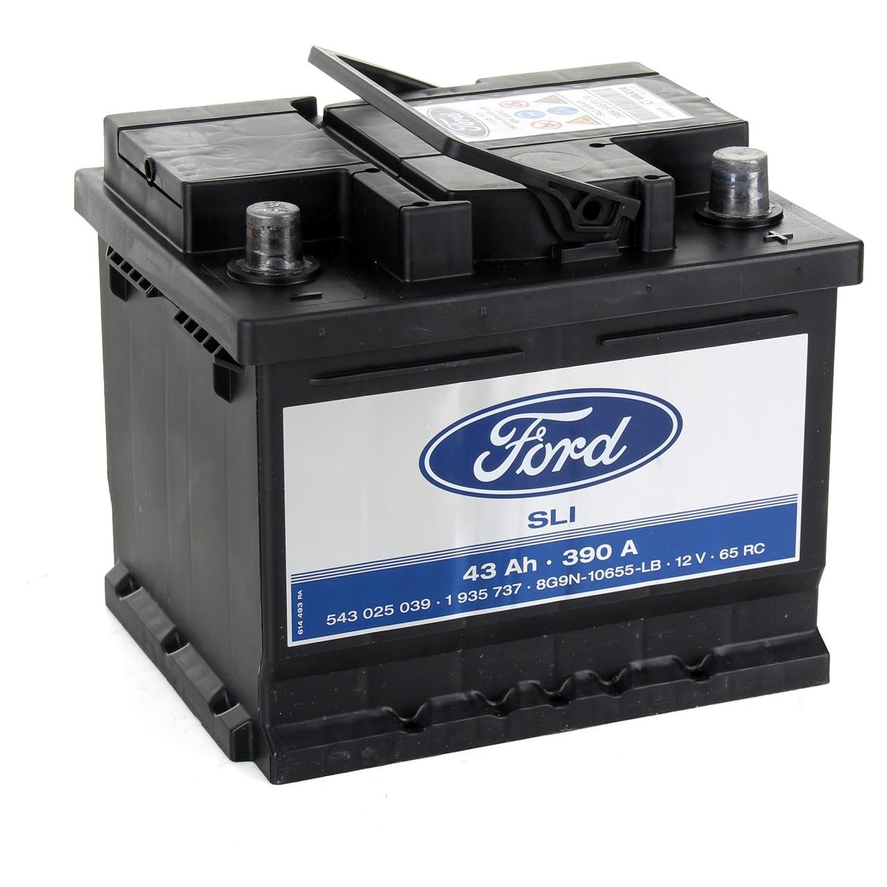 ORIGINAL Ford Autobatterie Batterie Starterbatterie 12V 43Ah 390A 1935737