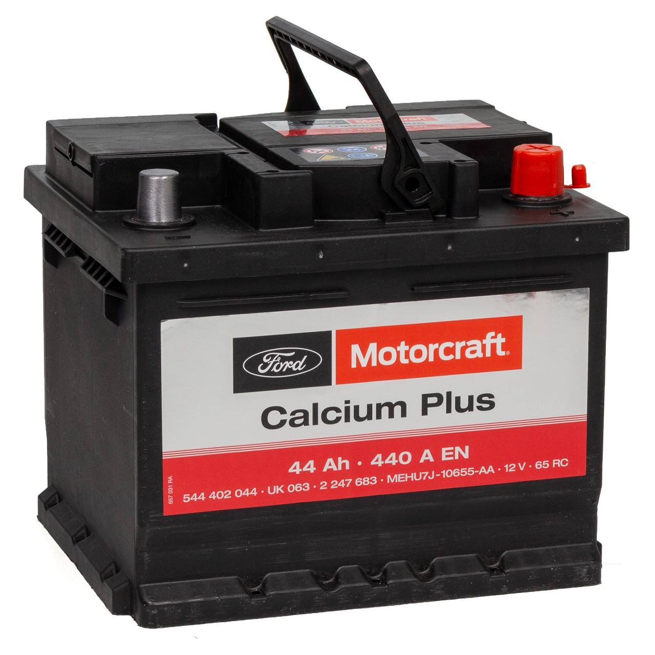 ORIGINAL Ford MOTORCRAFT Autobatterie Batterie Starterbatterie 12V 44Ah 2247683