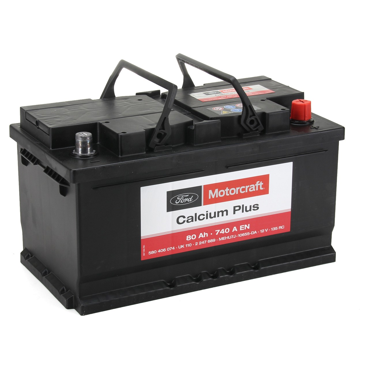 ORIGINAL Ford MOTORCRAFT Autobatterie Batterie Starterbatterie 12V 80Ah 2247689