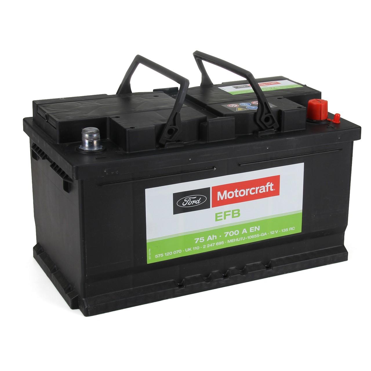 ORIGINAL Ford Autobatterie Batterie Starterbatterie EFB 12V 75Ah 700A 2247695