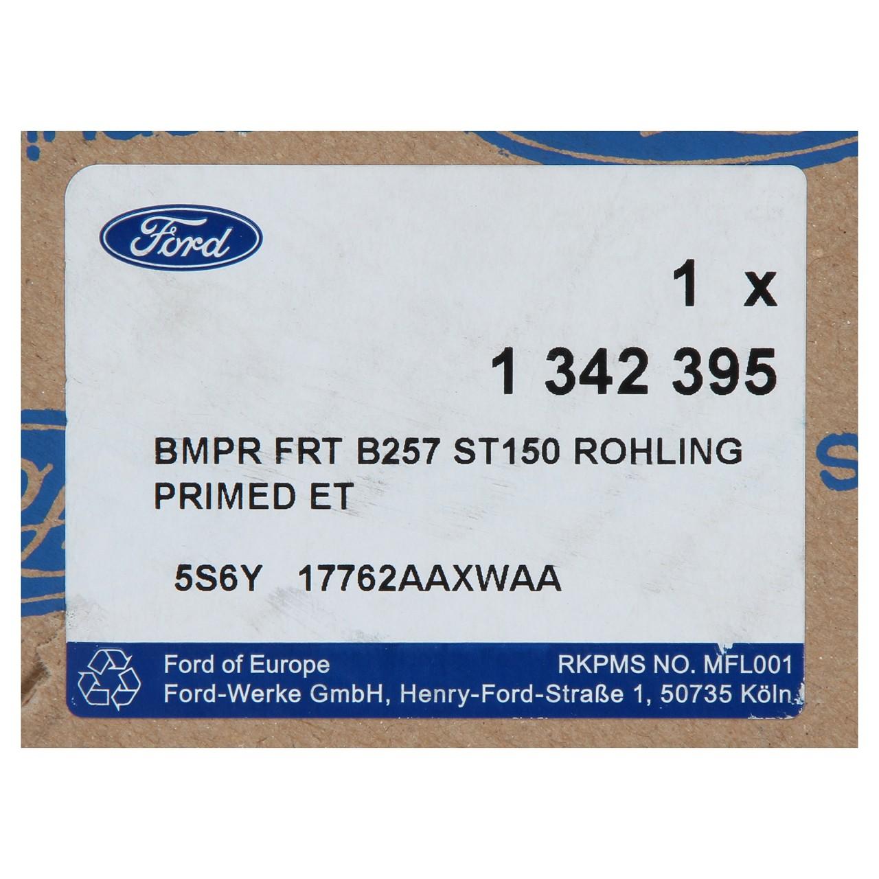ORIGINAL Ford Stoßstange Stoßfänger FIESTA V MK5 (JH_ JD_) VORNE 1342395