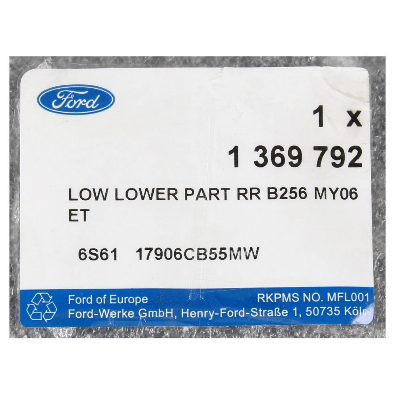 ORIGINAL Ford Stoßstange Stoßfänger FIESTA V ab 10.2005 HINTEN UNTEN 1369792