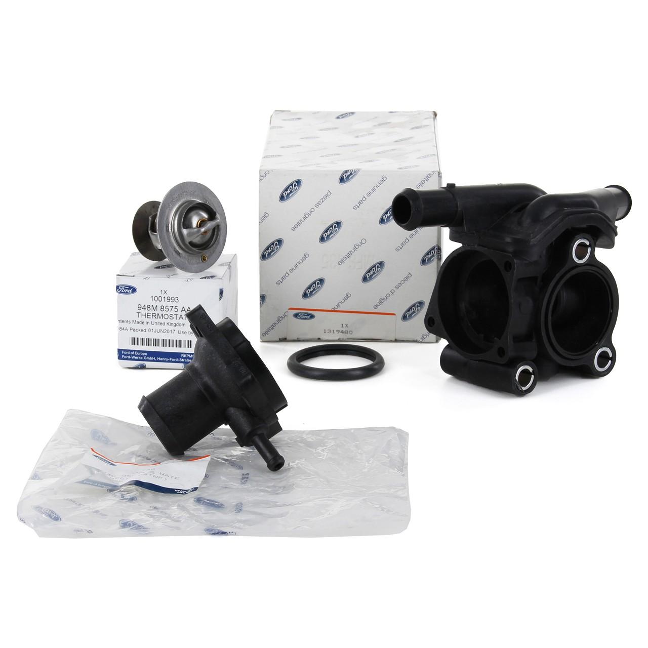 ORIGINAL Ford Thermostat + Thermostatgehäuse + Deckel FOCUS I 1.8/2.0 16V ST RS