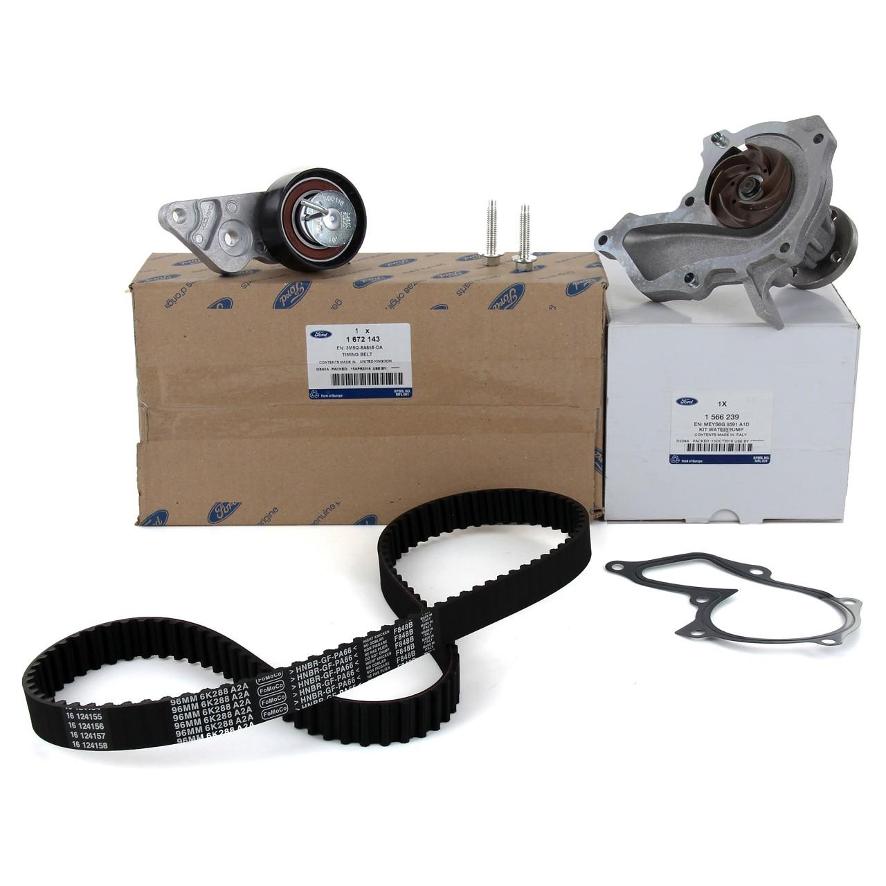 ORIGINAL Ford Zahnriemensatz 1672143 + Wasserpumpe 1566239 FIESTA 4 5 FOCUS 1 2