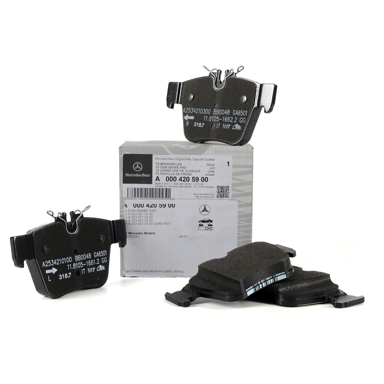 ORIGINAL Mercedes-Benz Bremsbeläge Bremsklötze W205 X253 C253 hinten 0004205900
