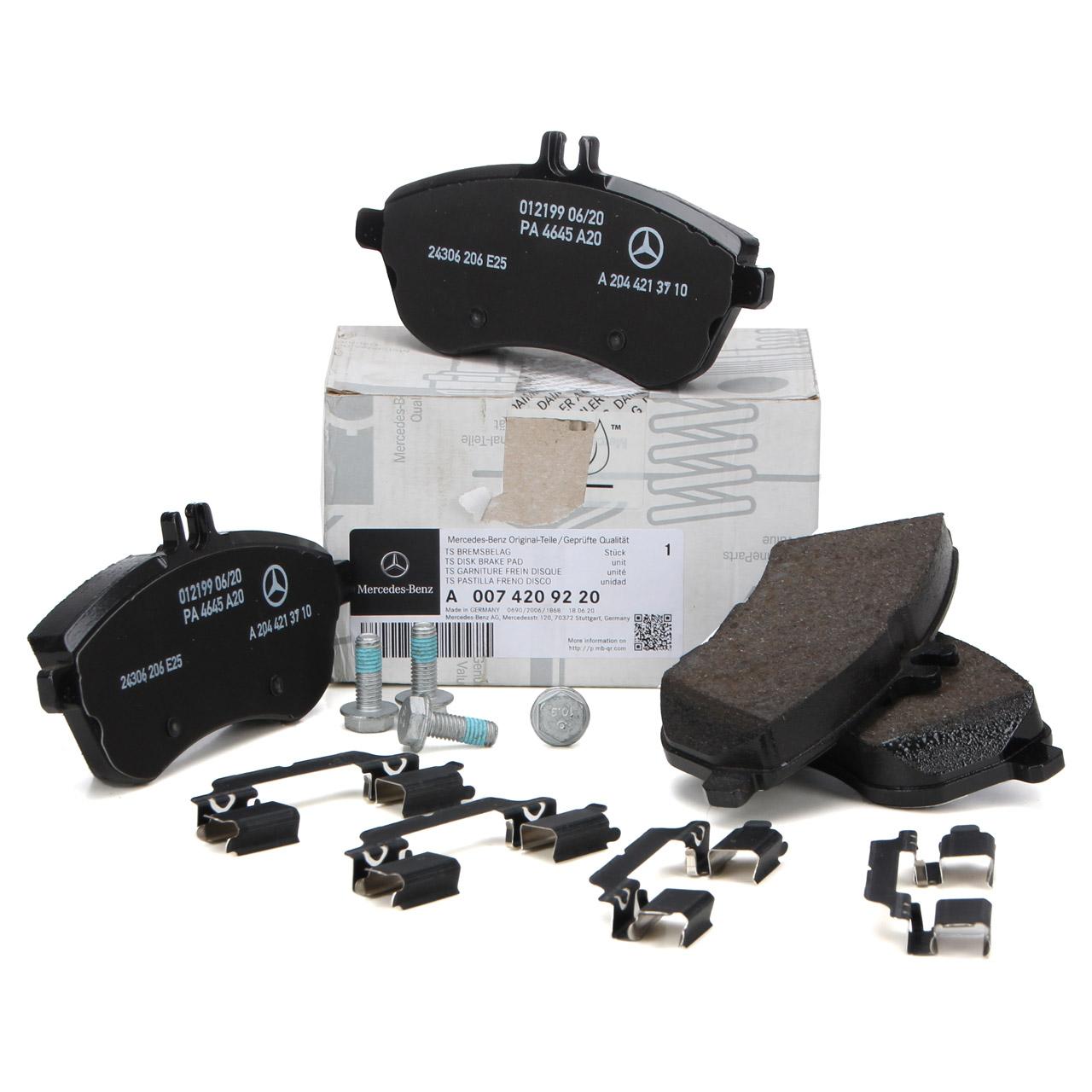 ORIGINAL Mercedes-Benz Bremsbeläge C-Klasse W204 E-Klasse W212 vorne 0074209220