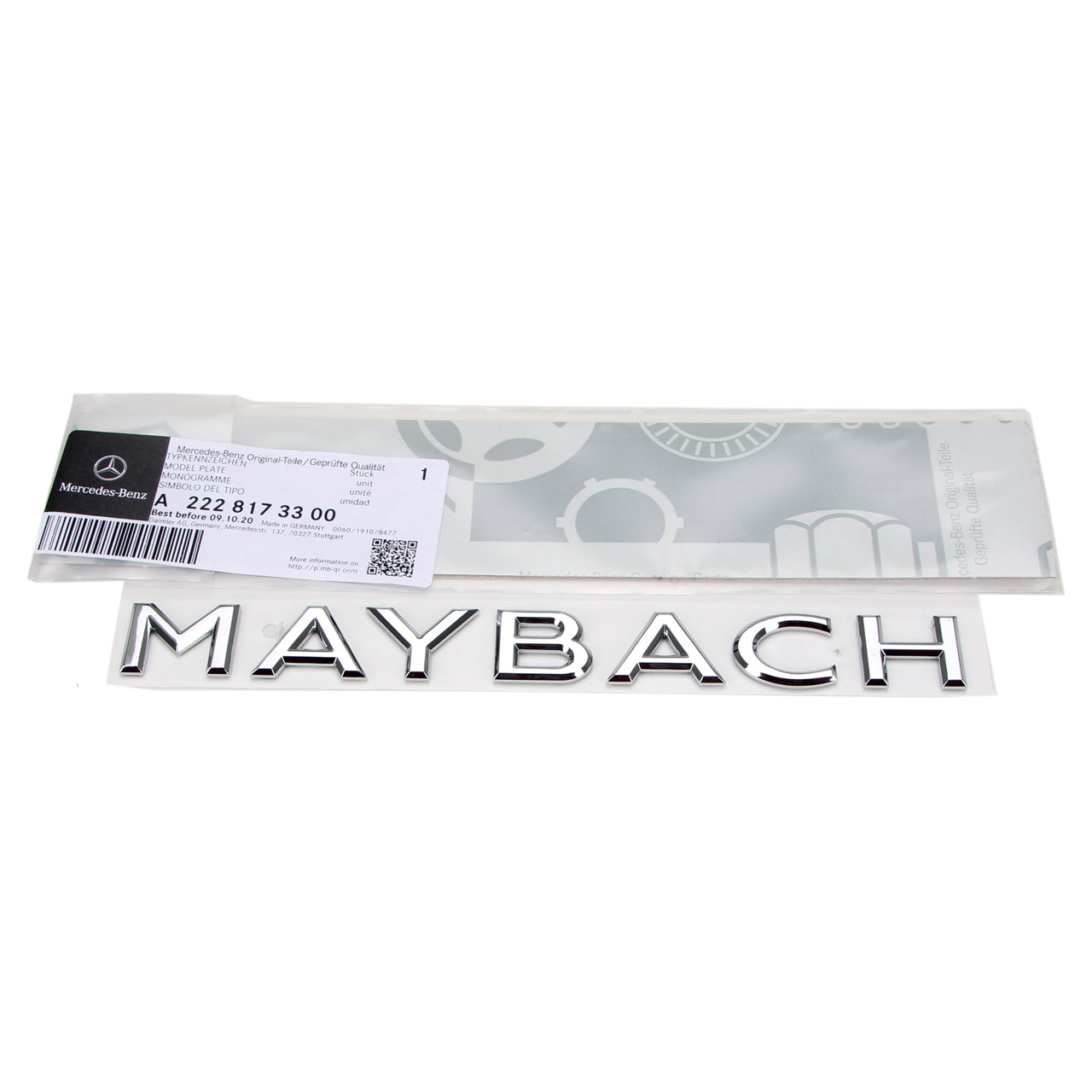 ORIGINAL Mercedes MAYBACH Emblem Logo Plakette W463 W222 hinten 2228173300