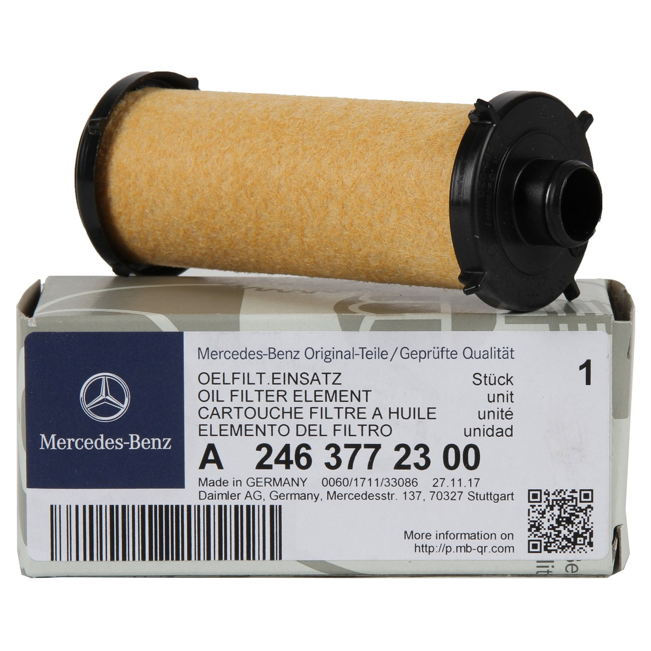 ORIGINAL Mercedes Hydraulikfilter 7-Gang DSG 724 Automatikgetriebe 2463772300