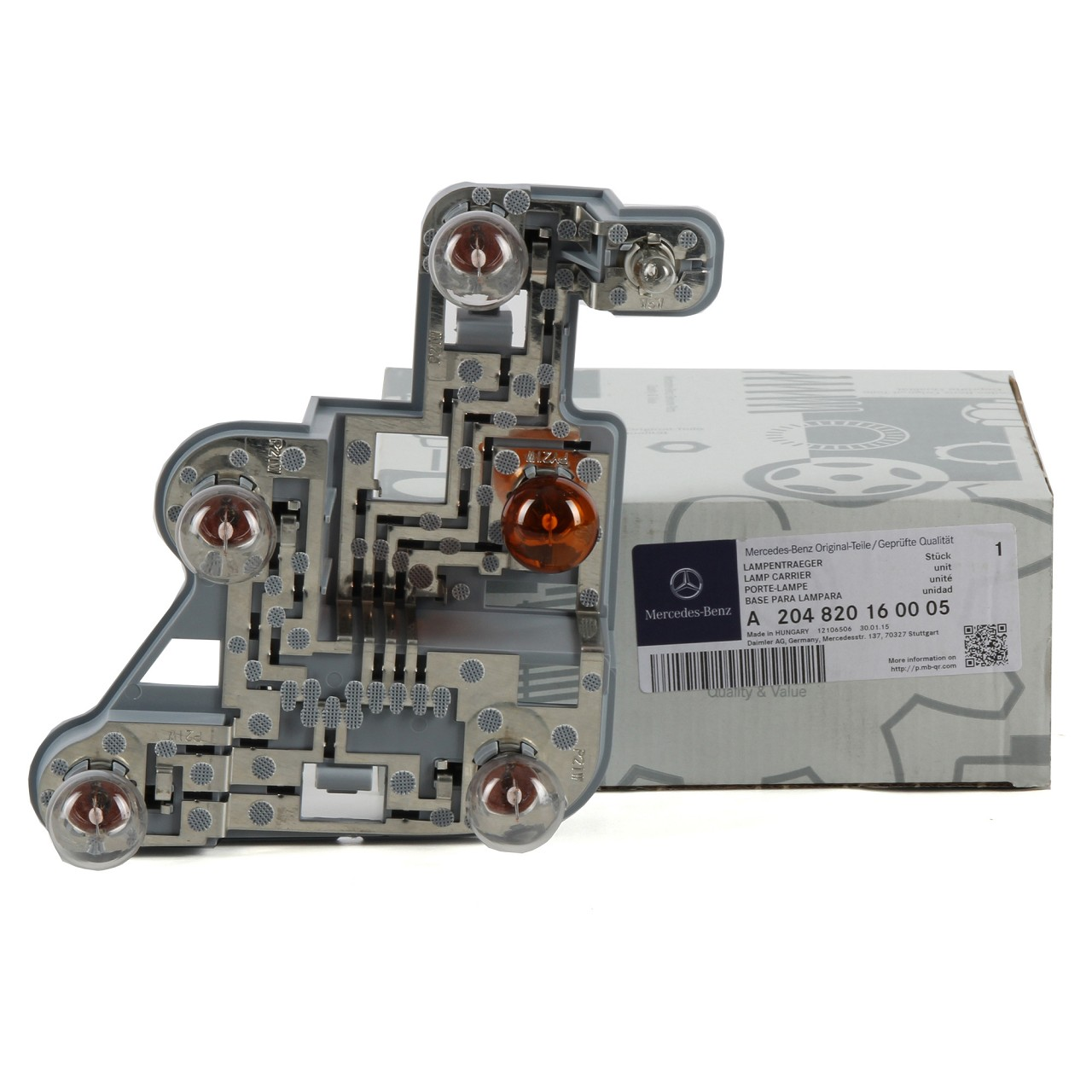 ORIGINAL Mercedes Lampenträger HINTEN RECHTS 2048201600 C-KLASSE W204 LIMOUSINE