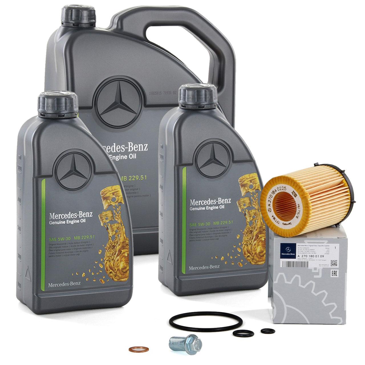 ORIGINAL Mercedes-Benz Motoröl 5W30 MB 229.51 7 Liter + Ölfilter 2701800109