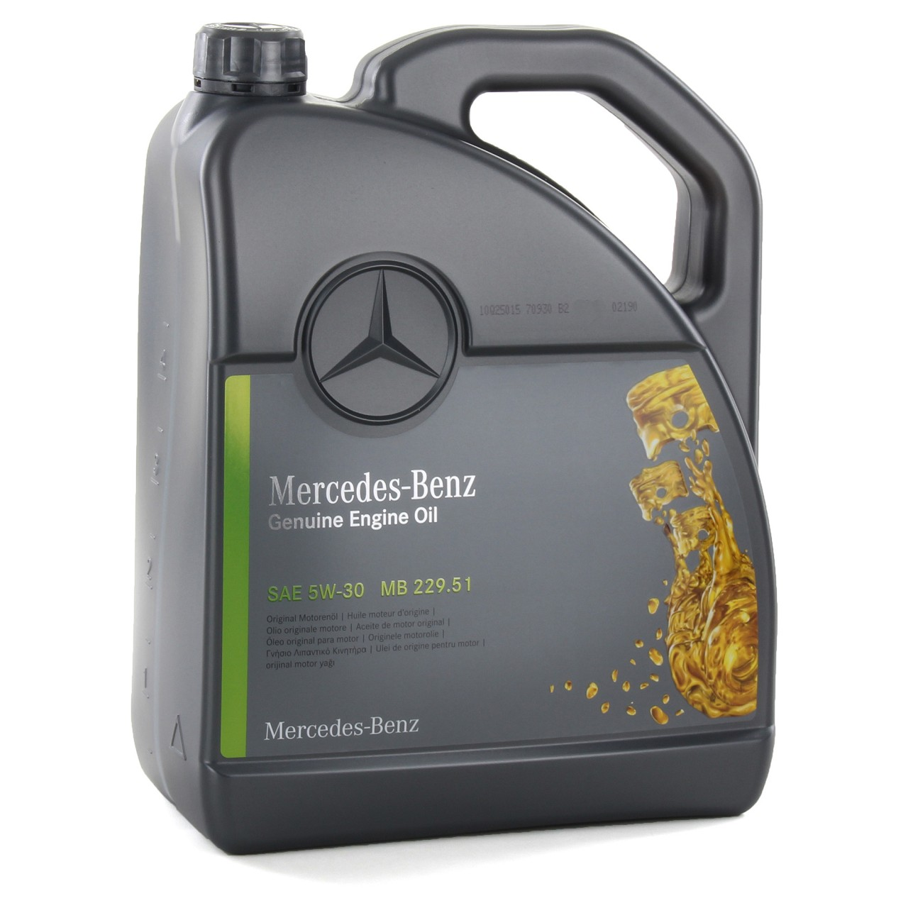 5L 5 Liter ORIGINAL Mercedes-Benz Motoröl Öl 5W-30 MB 229.51 000989940213ALEE