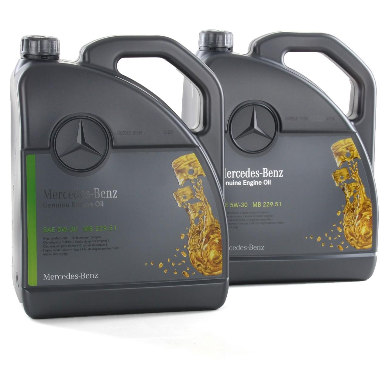 10 Liter ORIGINAL Mercedes-Benz Motoröl Öl 5W-30 5W30 MB 229.51 000989940213ALEE