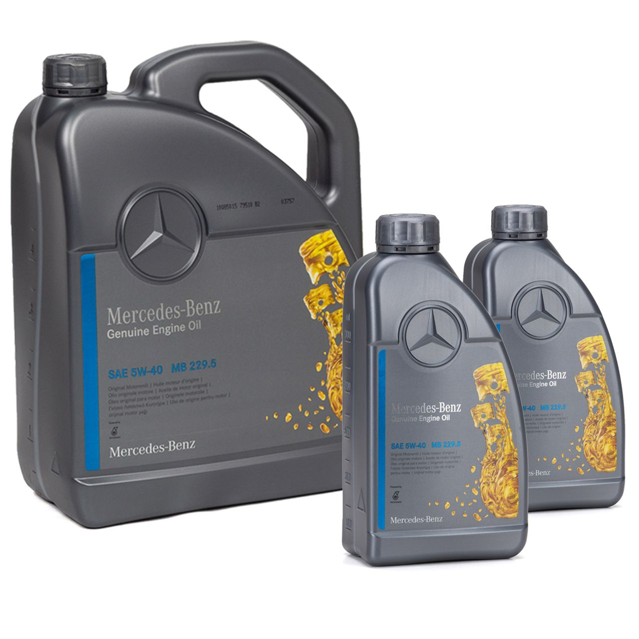 7L 7 Liter ORIGINAL Mercedes-Benz Motoröl ÖL 5W40 5W-40 MB 229.5 0009899202