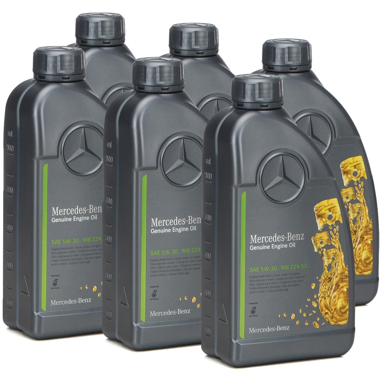 6L 6 Liter ORIGINAL Mercedes-Benz Motoröl ÖL 5W30 5W-30 MB 229.52 000989950211
