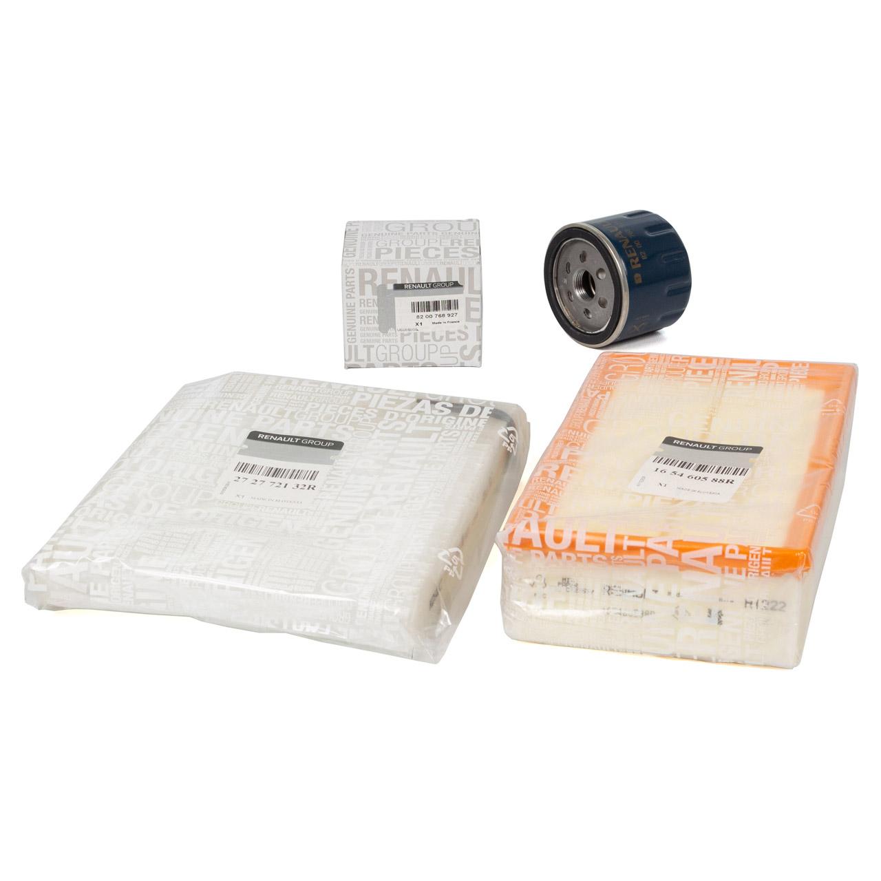 ORIGINAL Renault Inspektionskit Filterpaket Filterset CLIO III 1.5dCi 65-106 PS