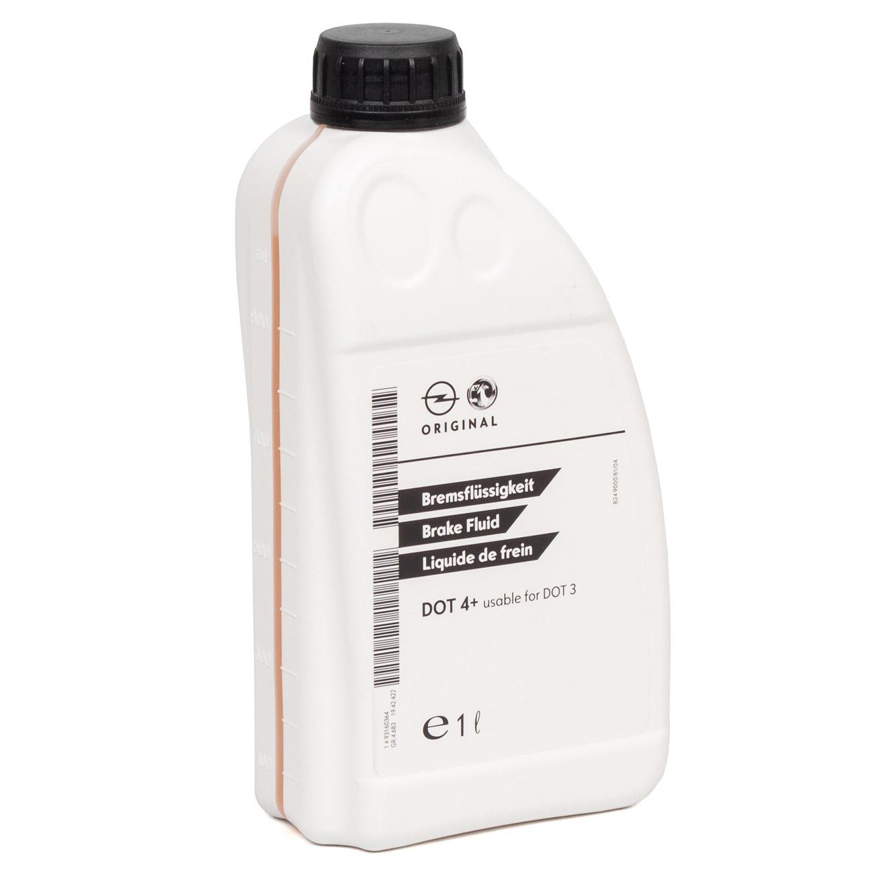 ORIGINAL GM Opel Bremsflüssigkeit DOT4+ 1 Liter 1942422 / 93160364