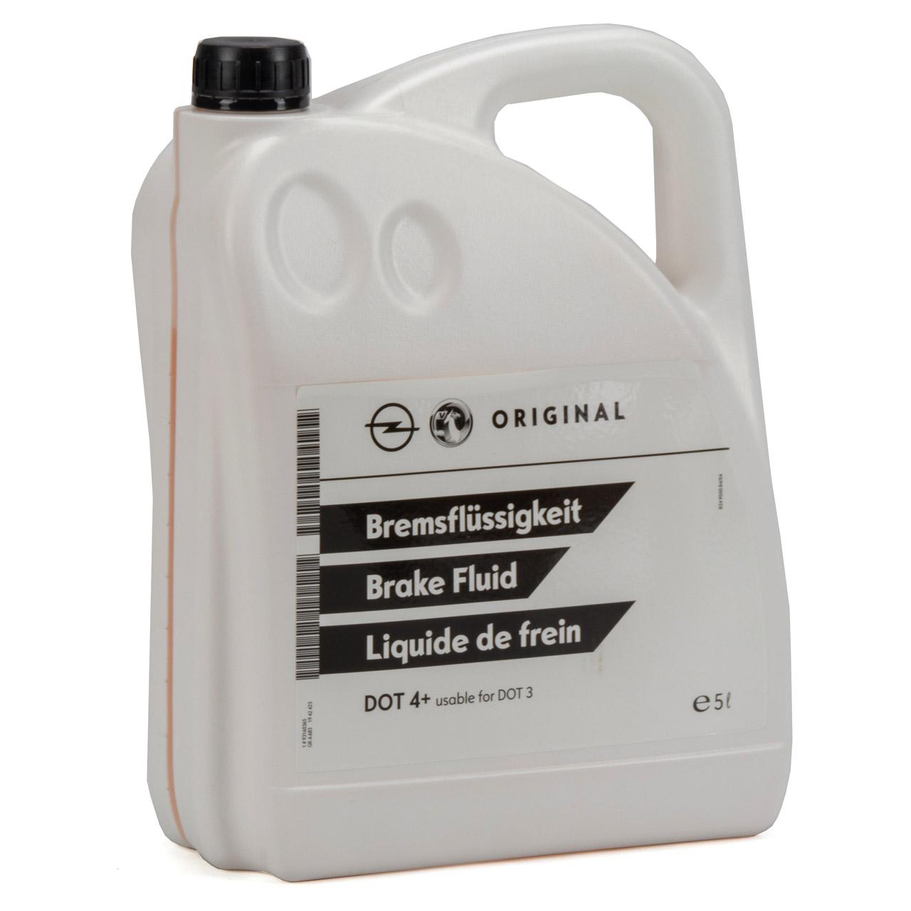 ORIGINAL GM Opel Bremsflüssigkeit DOT4+ 5 Liter 93160365 / 1942423