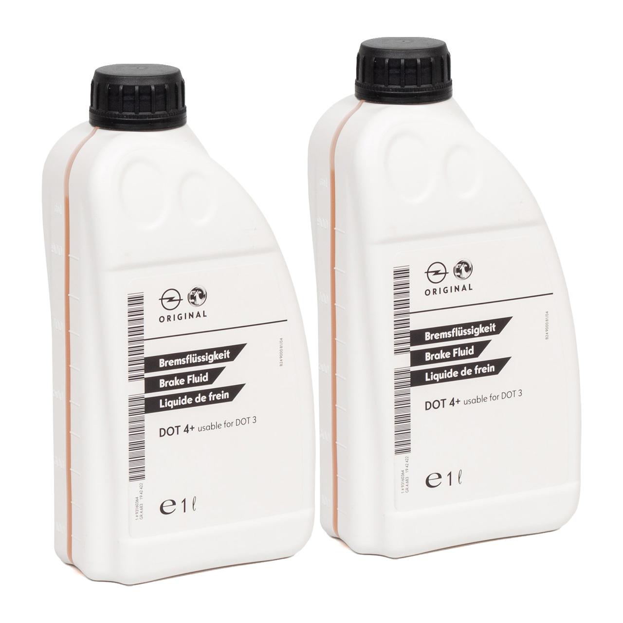 ORIGINAL GM Opel Bremsflüssigkeit DOT4+ 2 Liter 1942422 / 93160364
