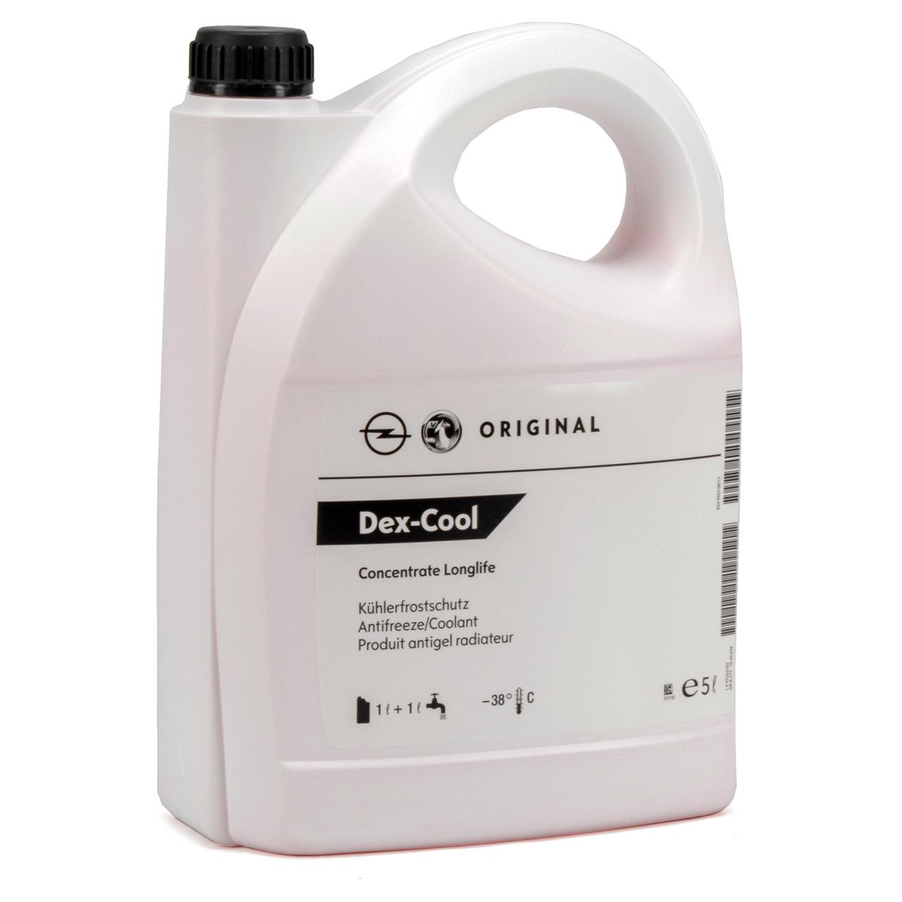 ORIGINAL GM Opel Frostschutz Kühlerfrostschutz DEX-COOL ROT 5 Liter 93165162