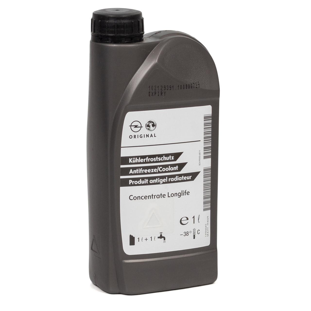 ORIGINAL GM Opel Kühlerfrostschutz Konzentrat LONGLIFE 1 Liter 93165413 (MHD 02.2023)