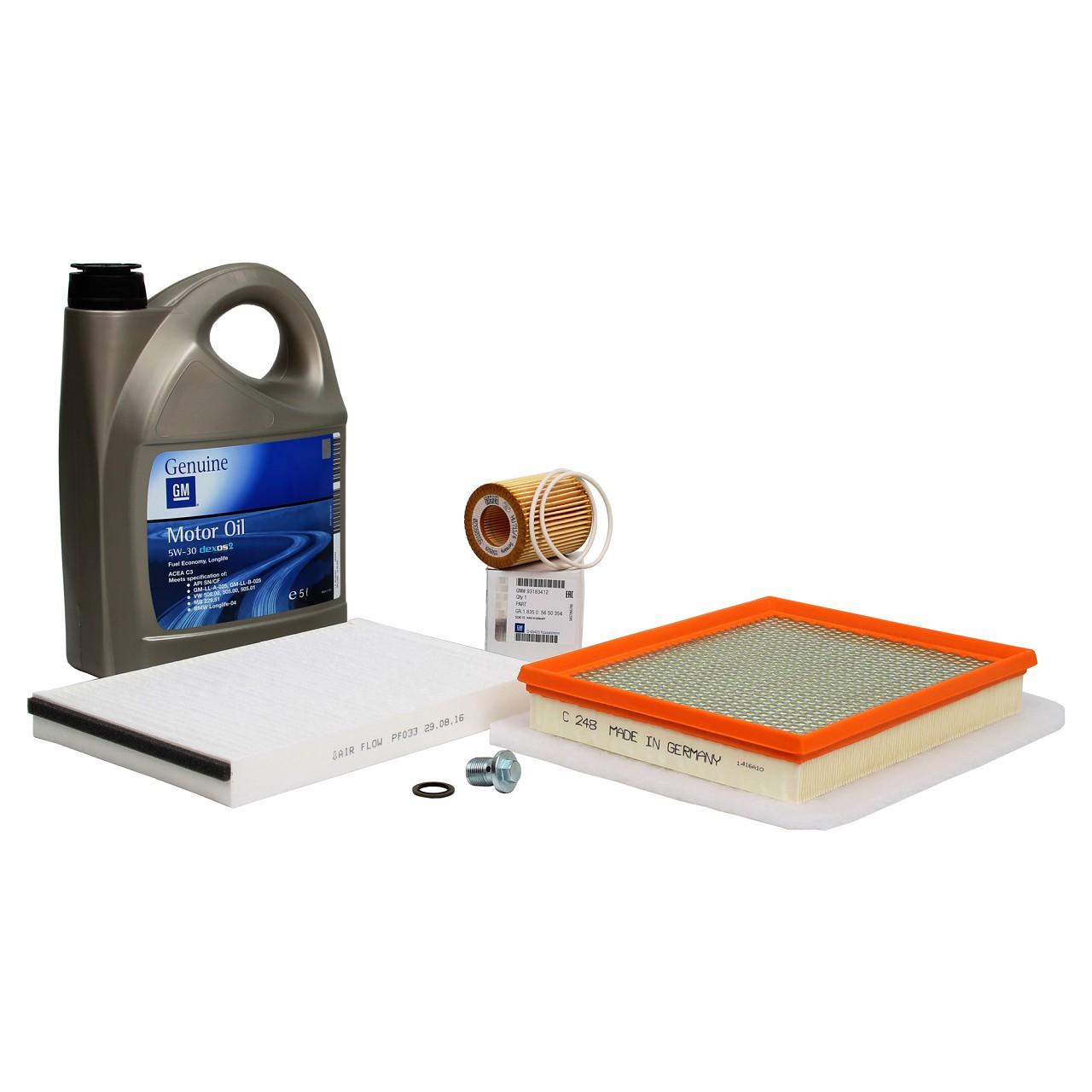 OPEL Inspektionskit Ölwechsel 5W-30 dexos2 Filterset Astra H 1.9 CDTI 100-150 PS