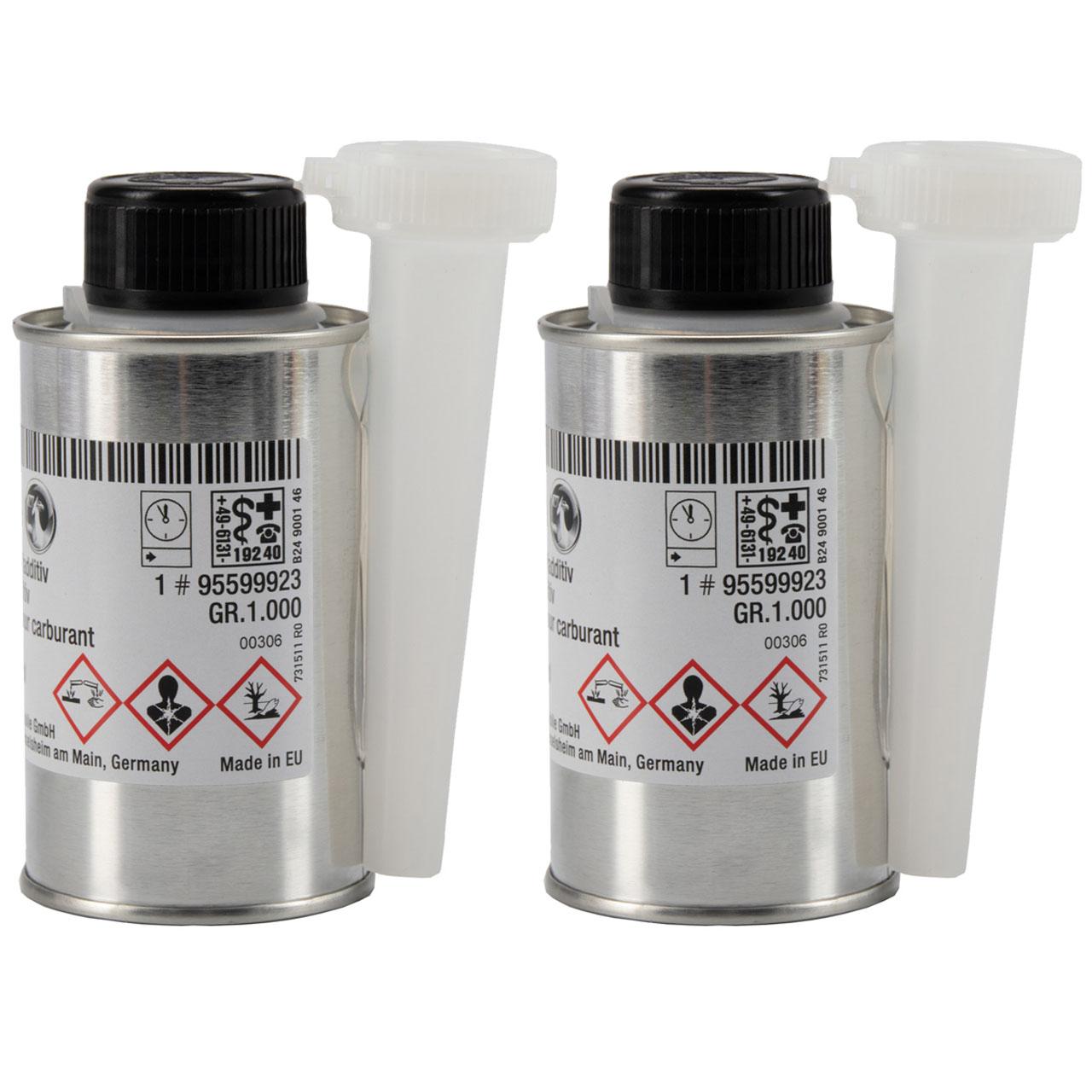 2x ORIGINAL Opel Kraftstoffadditiv Benzinadditiv Additiv 120ml 95599923
