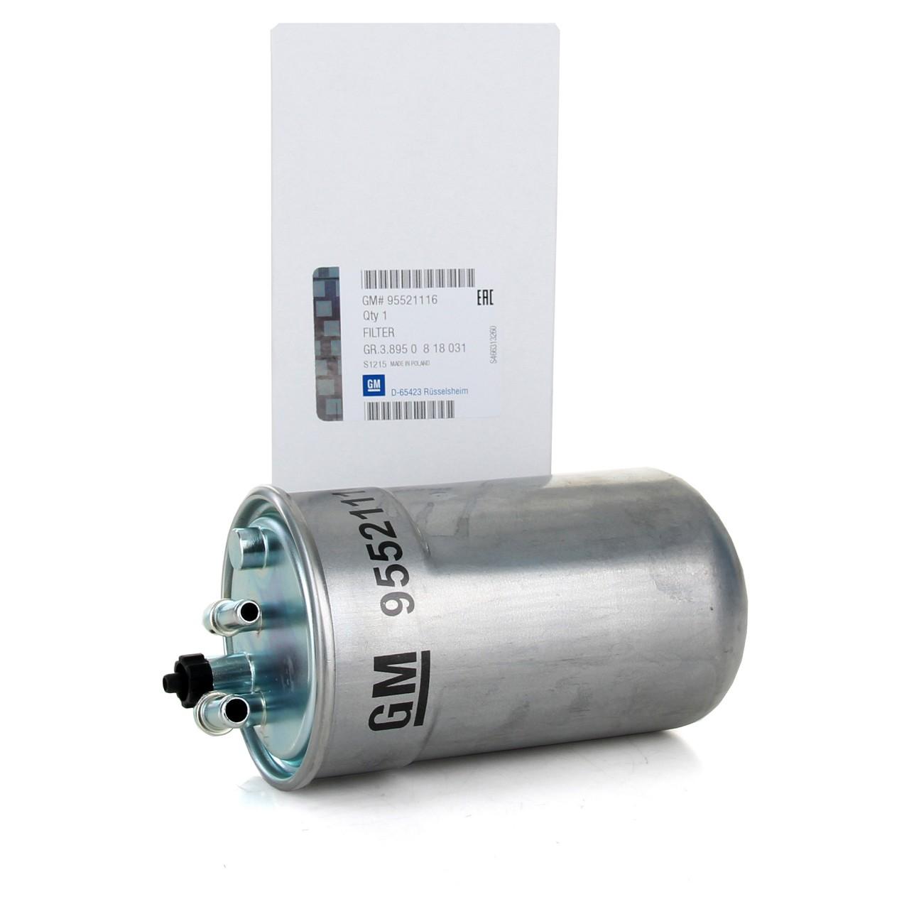 ORIGINAL GM Opel Kraftstofffilter Dieselfilter CORSA D E 1.3 1.7 CDTi 95521116