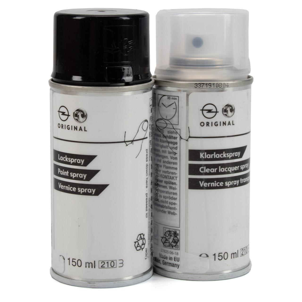 ORIGINAL GM Lackspray Sprühdose SAPHIR-SCHWARZ Z20R + Klarlack 1765010 93170651