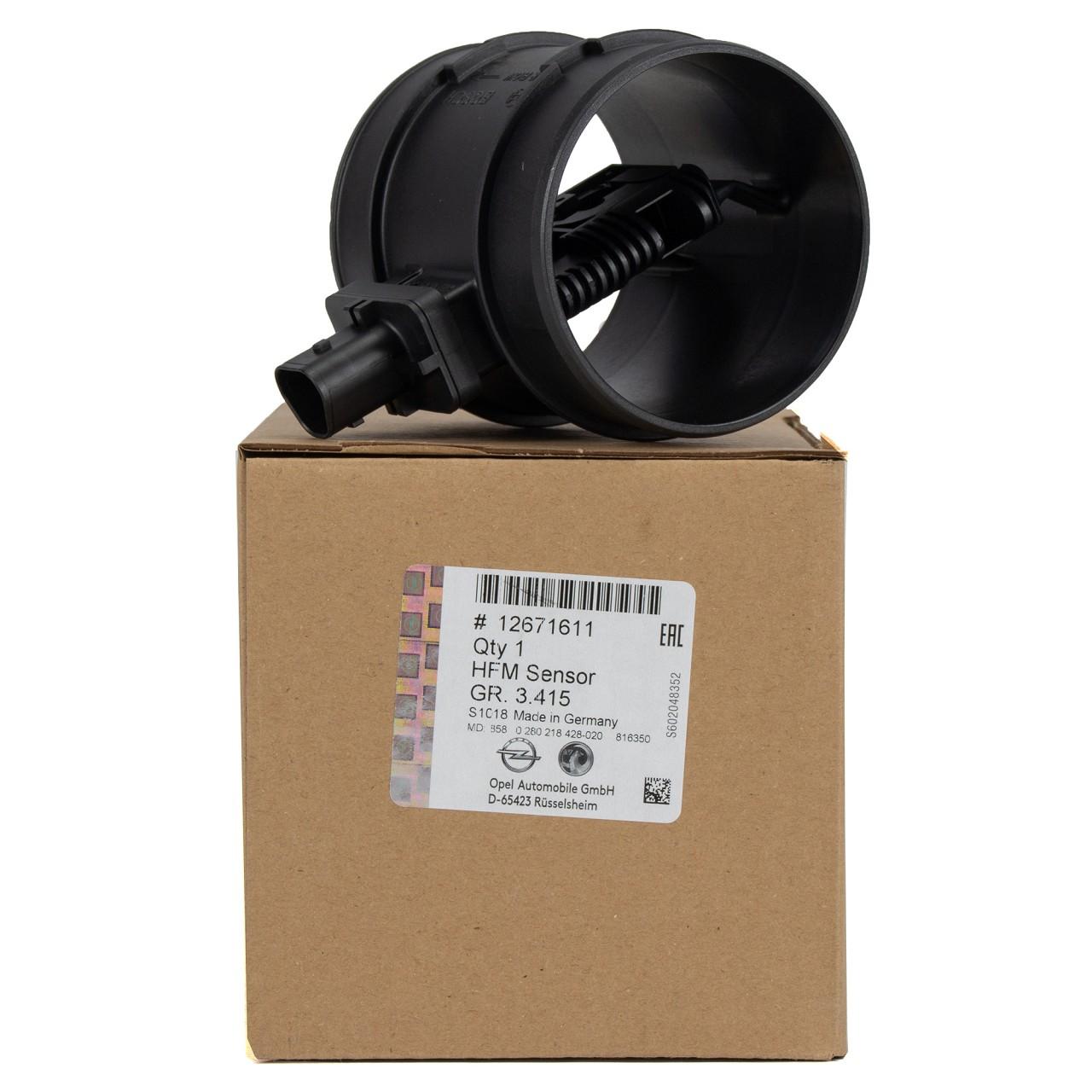 ORIGINAL GM Opel Luftmengenmesser Luftmassenmesser 1.6 / 2.0 CDTi 12671611