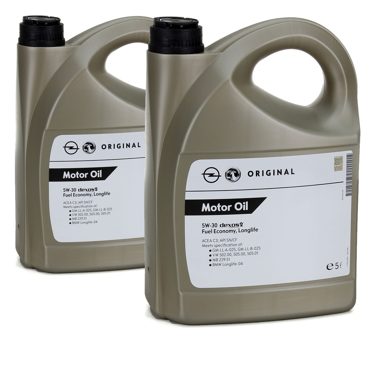 2x 5L ORIGINAL GM Opel Motoröl ÖL 5W30 dexos2 Fuel Economy Longlife 95527879