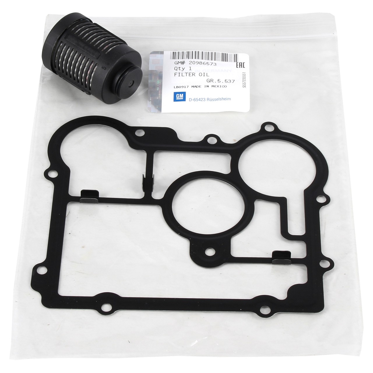 ORIGINAL Opel Ölfilter + Dichtung Ausgleichsgetriebe HINTERACHSE 20986573