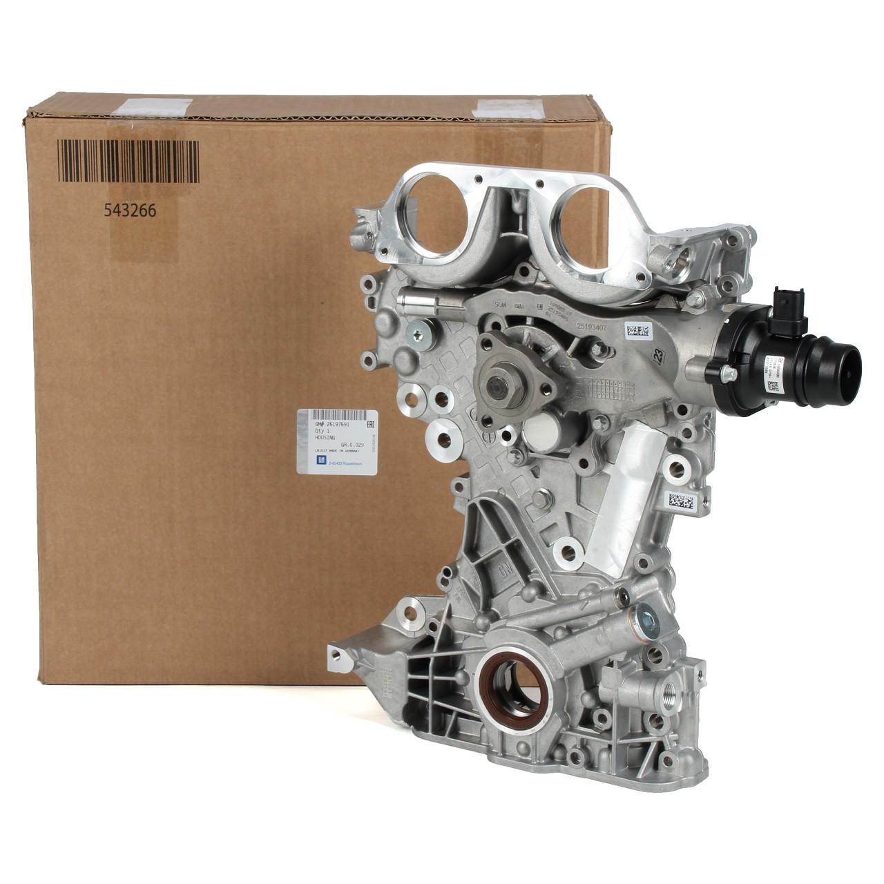 ORIGINAL GM Opel Abdeckung Frontdeckel inkl. Wasserpumpe + Ölpumpe 25197591