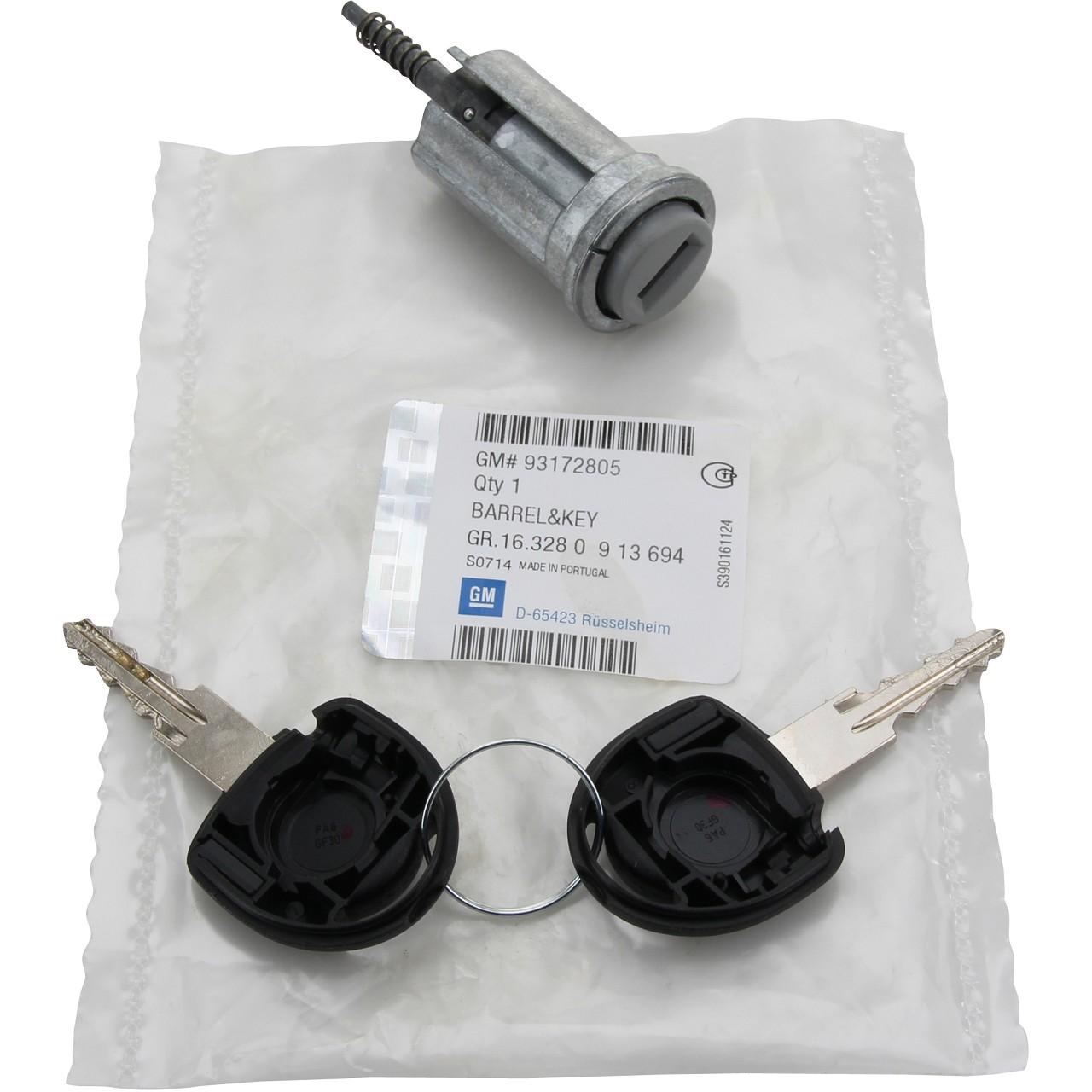 ORIGINAL GM Opel Schließzylinder Zündschloss + Schlüssel 913694 / 93172805
