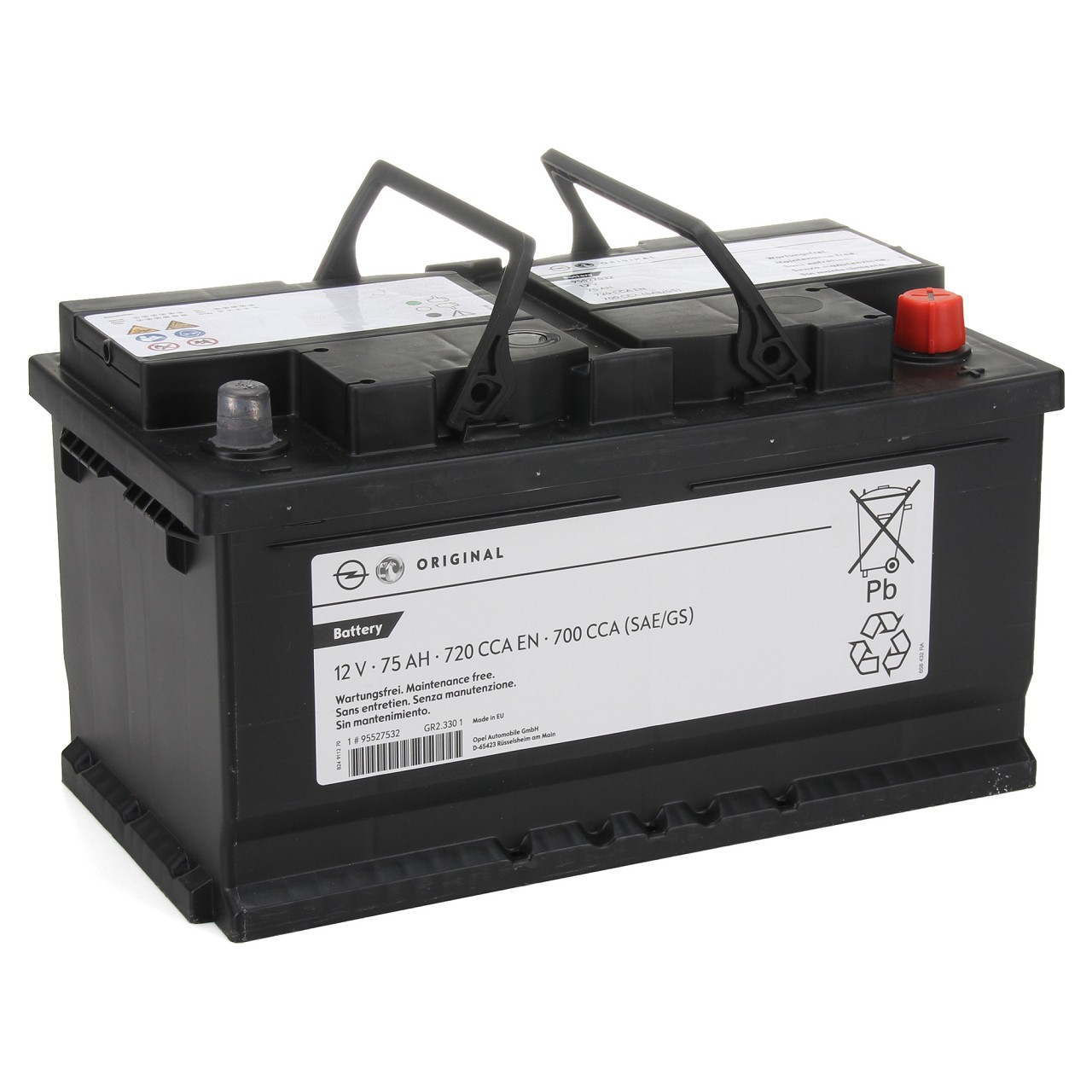 ORIGINAL Opel Autobatterie Batterie Starterbatterie 12V 75Ah 700/720A 995527532
