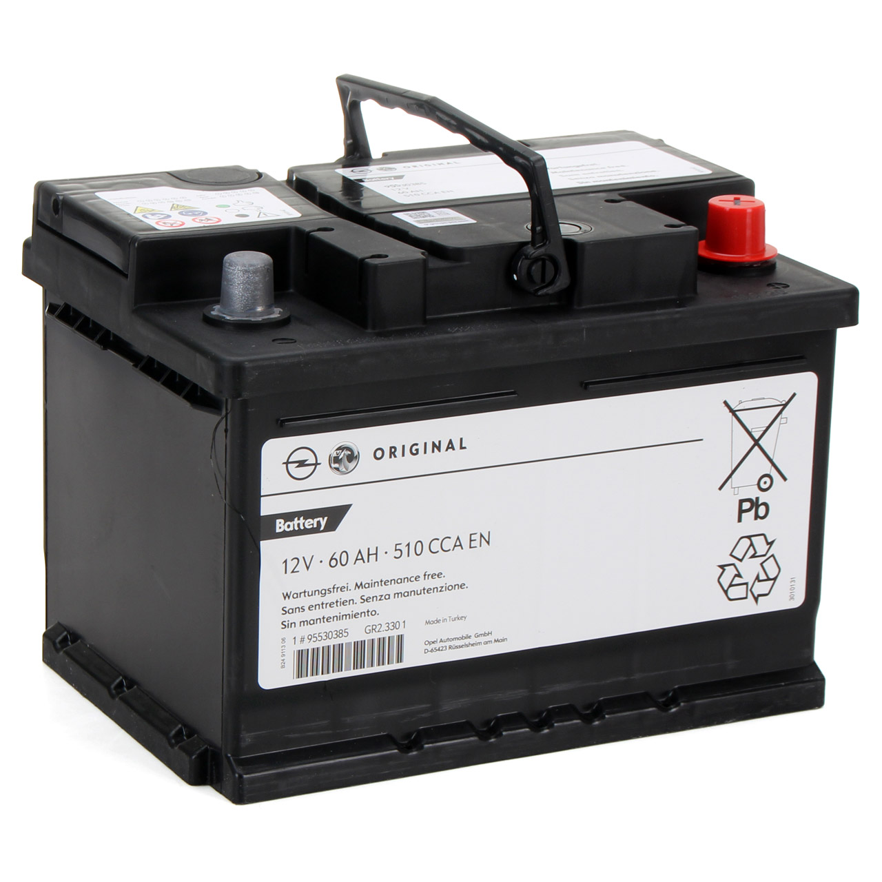 ORIGINAL GM Opel Autobatterie Starterbatterie 12V 60Ah 510A 95523432