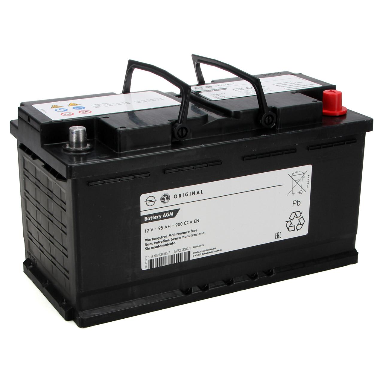 ORIGINAL GM Opel Autobatterie Batterie Starterbatterie 12V 95Ah 900A 95530557