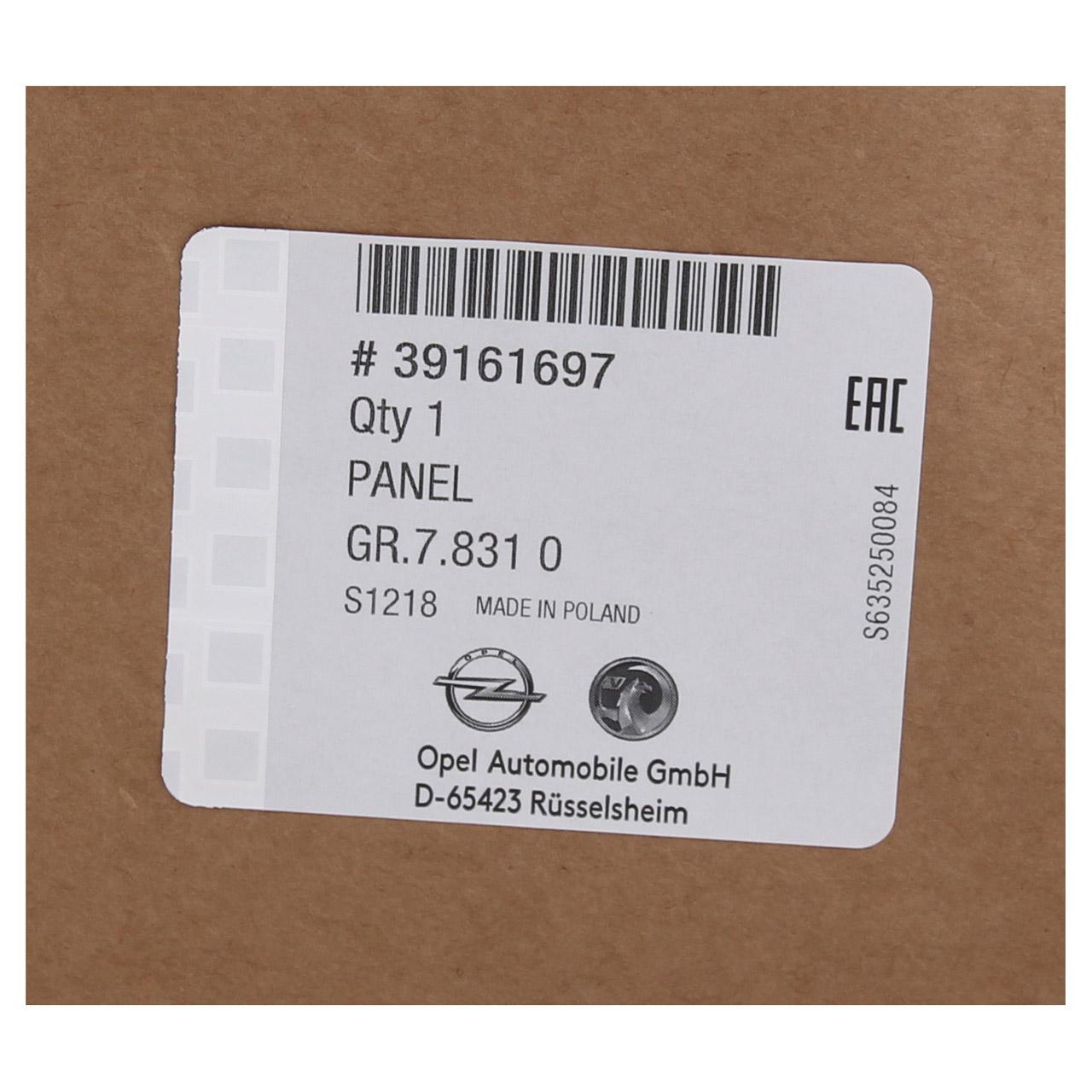 ORIGINAL Opel Stoßstange Stoßfänger HINTEN 39161697 für ASTRA K Schrägheck 5-trg