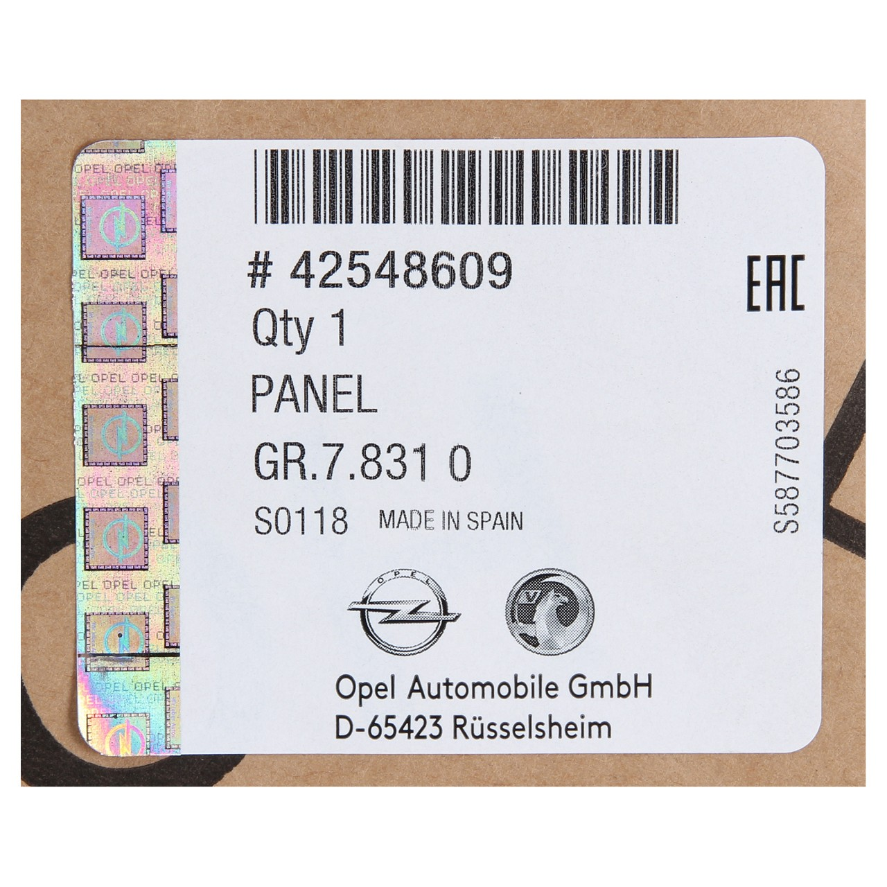 ORIGINAL GM Opel Stoßstange Stoßfänger MOKKA / MOKKA X vorne 42548609