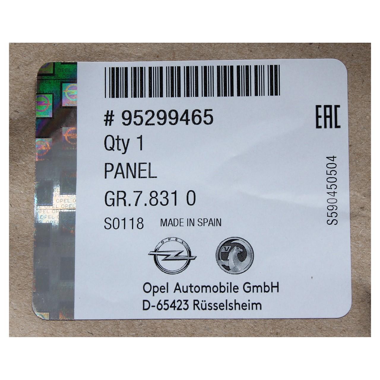 ORIGINAL GM Opel Stoßstange Stoßfänger MOKKA / MOKKA X vorne unten 95299465