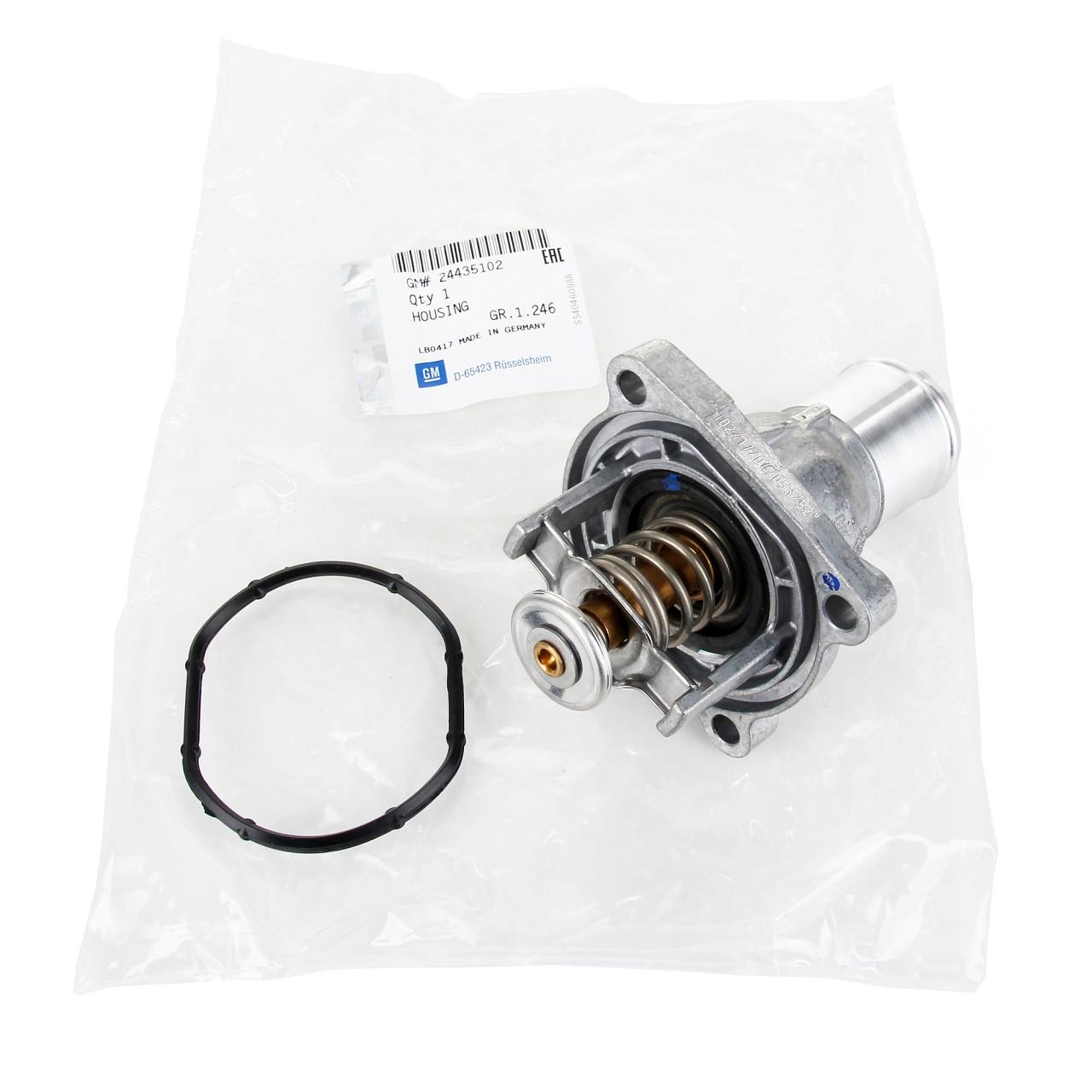 ORIGINAL Opel Thermostat 24435102 + Dichtung ASTRA H CORSA D E MERIVA A ZAFIRA B