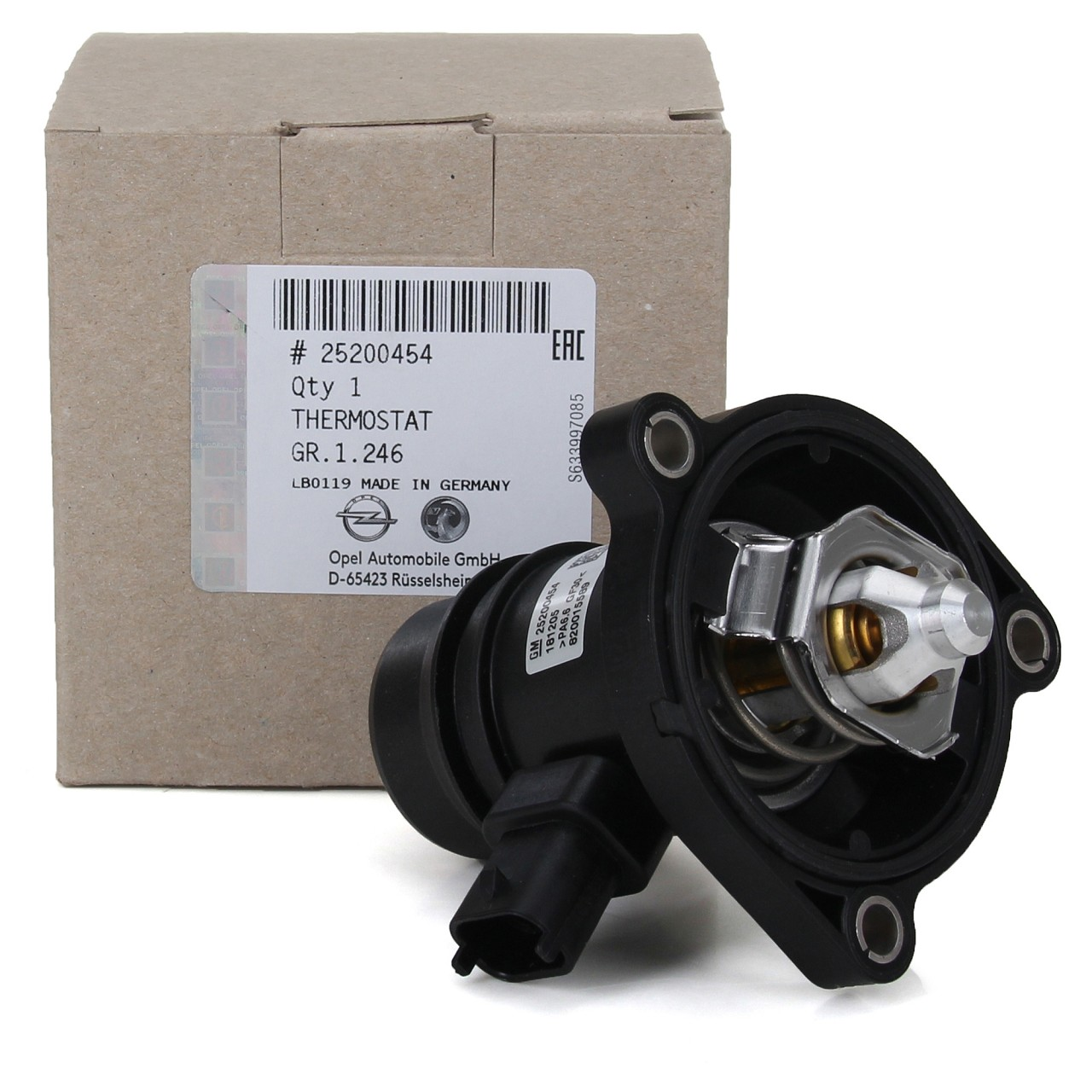 ORIGINAL GM Opel Thermostat + Gehäuse inkl. Dichtung + Sensor 1338379