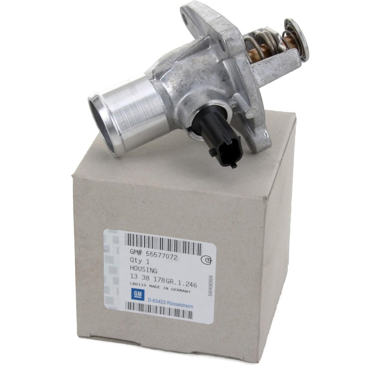 ORIGINAL GM Opel Thermostat + Gehäuse + Sensor 1.6/1.8 16V 1338178 / 55577072