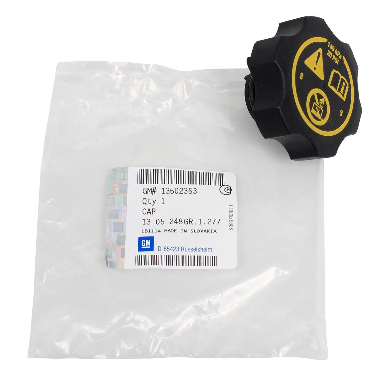 ORIGINAL GM Opel Verschlussdeckel Deckel Kühlmittelbehälter Kühler 13502353