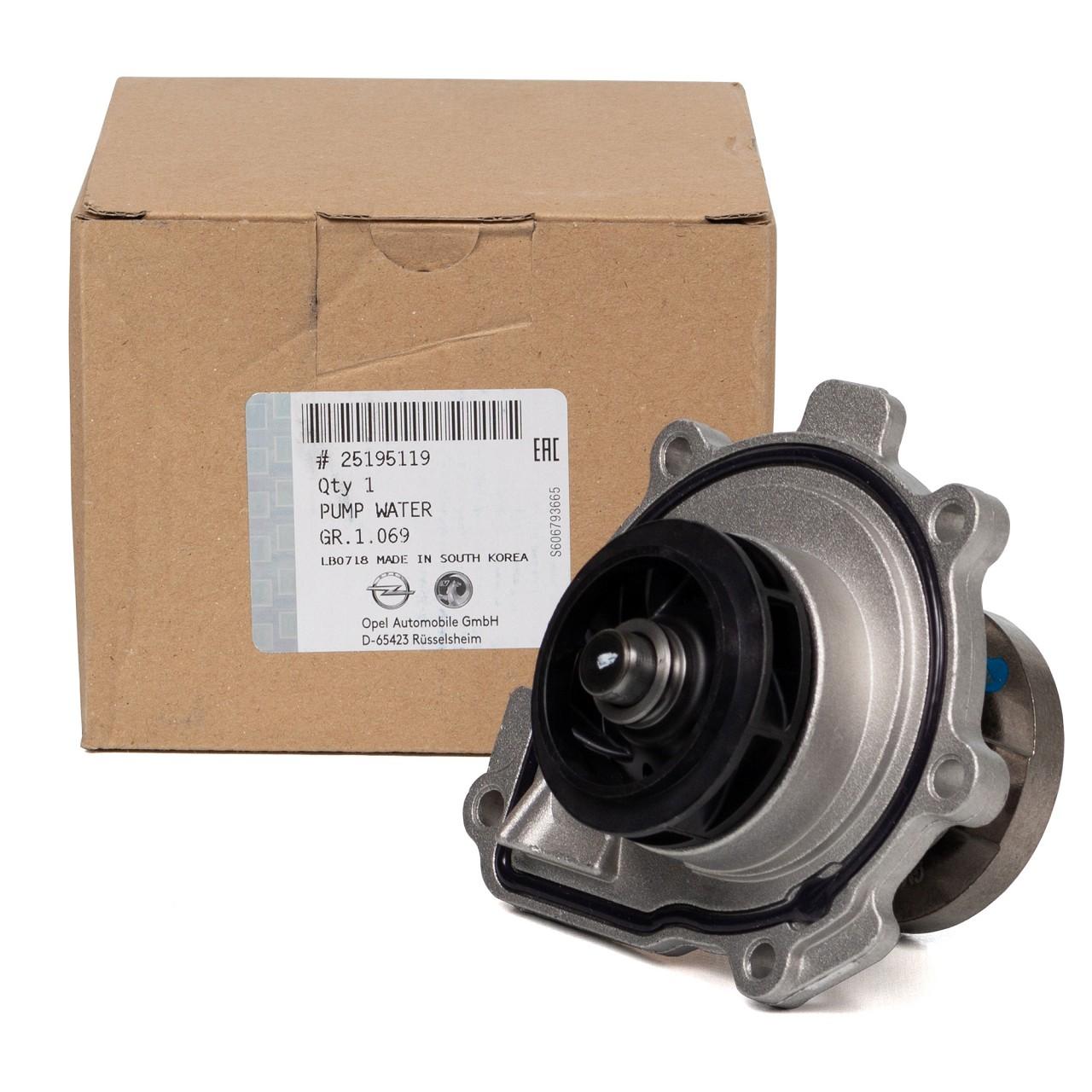 ORIGINAL GM Opel Wasserpumpe 25195119 ASTRA CORSA INSIGNIA VECTRA ZAFIRA 1.6 1.8